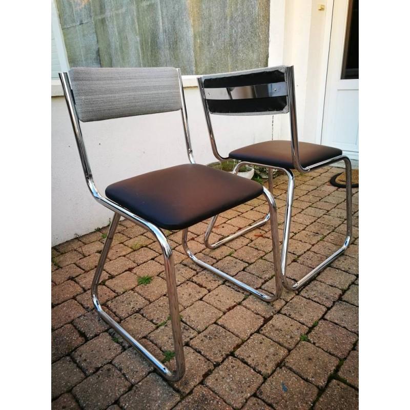 Chaise chrome traineau