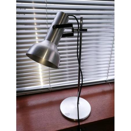 Lampe métal brossé année 70