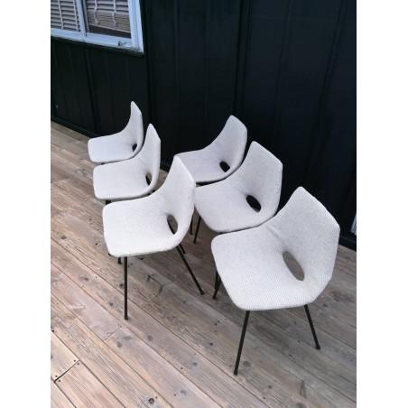 """6 Chaises """"tonneau"""" Pierre Guariche 1950"""