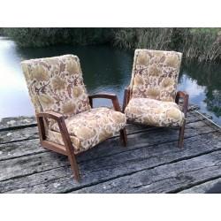 Paire de fauteuils René Jean Caillette circa 50