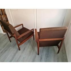 Paire de fauteuils teck de Birmanie année 60