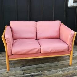 Canapé cuir scandinave vintage 80