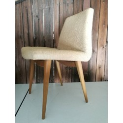 Chaise tissu/chêne vintage 50