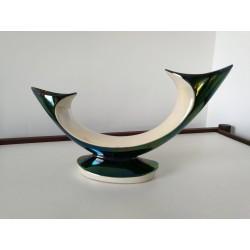 Bougeoir double céramique Verceram années 50
