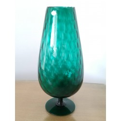 Vase vert de Empoli italien vintage 50