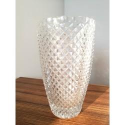 Vase en cristal pointes de diamant