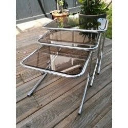 Tables gigogne chrome design 1970