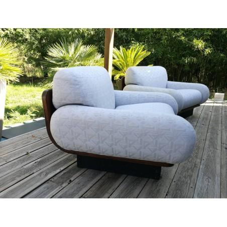 Paire de fauteuils Thamskvalitet des années 70