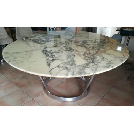 Table marbre arabescato Michel Charron