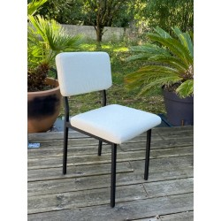 Chaise velours vintage 60