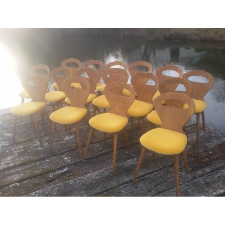"""16 chaises """"baumann"""" restaurées"""